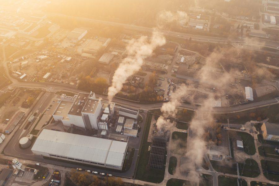 Une usine industrielle